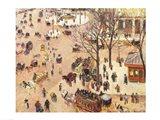 Place du Theatre Francais, 1898 Art Print