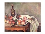 Still Life with Onions, c.1895 Art Print
