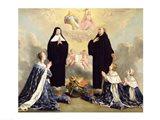 Anne of Austria and her Children at Prayer Art Print