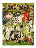 The Garden of Earthly Delights: Allegory of Luxury (vertical center panel detail) Art Print