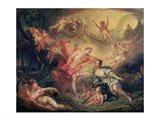 Apollo Revealing his Divinity to the Shepherdess Isse, 1750 Art Print