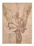 Angel playing a lute, 1491 Art Print