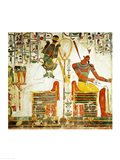 The Gods Osiris and Atum, from the Tomb of Nefertari Art Print