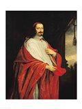 Portrait of Jules Mazarin Art Print