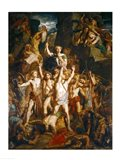 The Defence of Gaul, 1855 Art Print