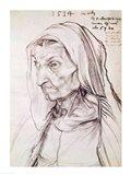 Portrait of the artist's mother, 1514 Art Print