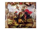 Achilles Defeating Hector Art Print