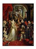 The Proxy Marriage of Marie de Medici Art Print
