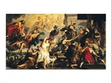 The Apotheosis of Henri IV and the Proclamation of the Regency of Marie de Medici Art Print