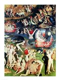 The Garden of Earthly Delights: Allegory of Luxury, detail of the central panel, c.1500 Art Print