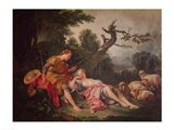 The Sleeping Shepherdess Art Print