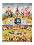 The Garden of Earthly Delights: Allegory of Luxury, animal central panel detail Art Print