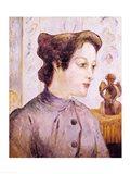 Portrait of a Young Woman, 1886 Art Print