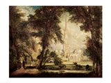 Salisbury Cathedral from the Bishop's Grounds, c.1822-23 Art Print