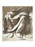Drapery study for a Seated Figure Art Print