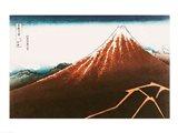 Fuji above the Lightning Art Print