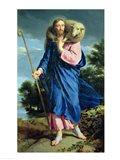 The Good Shepherd walking Art Print