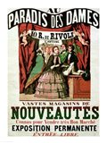 Poster advertising 'Au Paradis des Dames' Art Print