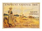 Poster for the Loan for National Defence from the Societe Generale, 1918 Art Print