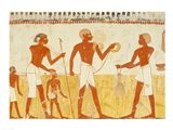 Measuring the land using rope, from the Tomb Chapel of Menna Art Print