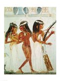 Musicians and a Dancer, from the Tomb of Nakht Art Print