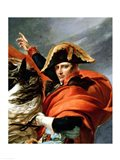 Napoleon Crossing the Alps, detail Art Print