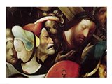 The Carrying of the Cross. detail of Christ and St. Veronica Art Print