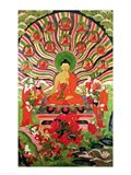 Scenes from the life of Buddha Art Print