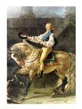 Equestrian Portrait of Stanislas Kostka Potocki Art Print