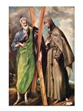 SS. Andrew and Francis of Assisi Art Print