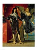 Louis XIII Crowned by Victory Art Print