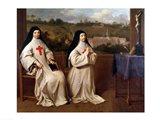 Two Nuns Art Print