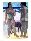 Two Tahitian Women on the Beach, 1891 Art Print