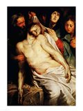 Triptych of Christ on the Straw Art Print