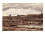 Ferry at Varenne-Saint-Hilaire, 1864 Art Print