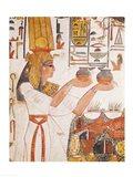 Nefertari Making an Offering, from the Tomb of Nefertari Art Print