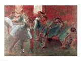 Dancers at Rehearsal - red Art Print