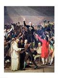 The Tennis Court Oath, 20th June 1789 Portrait Art Print