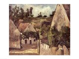 Crossroads at the Rue Remy, Auvers, c.1872 Art Print