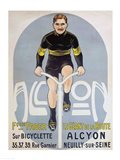 Poster depicting Francois Faber on his Alcyon bicycle Art Print