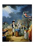 The Oath of Lafayette at the Festival of the Federation, 14th July 1790 Art Print