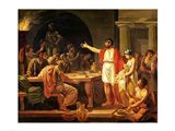 Study for Lycurgus Showing the Ancients of Sparta their King, 1791 Art Print