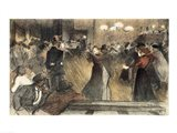Ball at the Barriere Art Print