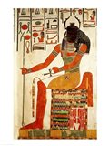 The god, Khepri Art Print