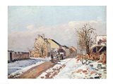 The Road from Gisors to Pontoise, Snow Effect, 1872 Art Print