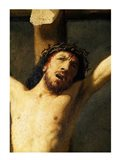 Christ on the Cross, detail of the head Art Print