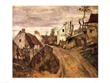 The Village Road, Auvers, c.1872-73 Art Print