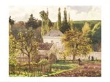 House in the Hermitage, Pontoise, 1873 Art Print