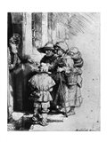 Beggars on the Doorstep of a House, 1648 Art Print