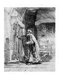 The blind Tobit, 1651 Art Print